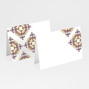 Tischkarten Hochzeit - Ottoman Rot - 0