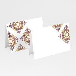 Tischkarten Hochzeit Ottoman Rot