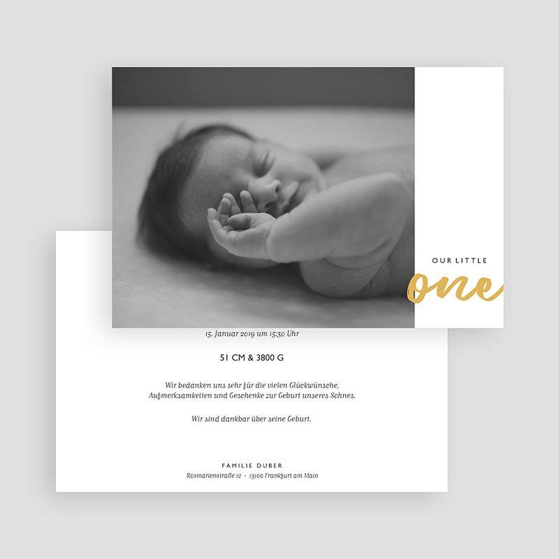 Geburtskarten für Jungen Our Little One gratuit