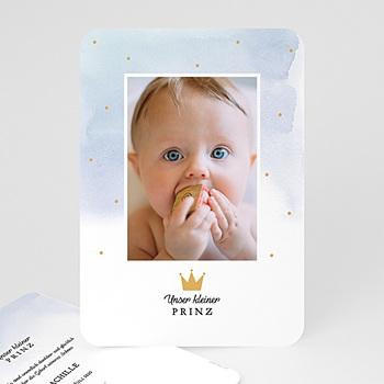 Geburtskarten für Jungen - Unser kleiner Prinz - 0