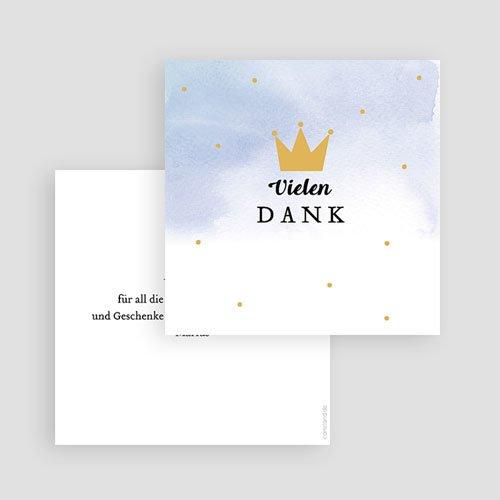 Dankeskarten Geburt Jungen - Unser kleiner Prinz 61307 thumb