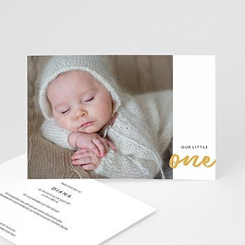 Geburtskarten für Mädchen - Little One - 0