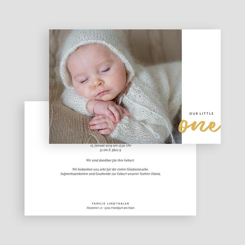 Geburtskarten für Mädchen Little One gratuit