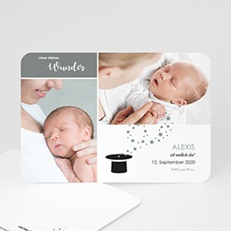 Karten Geburt Wunder