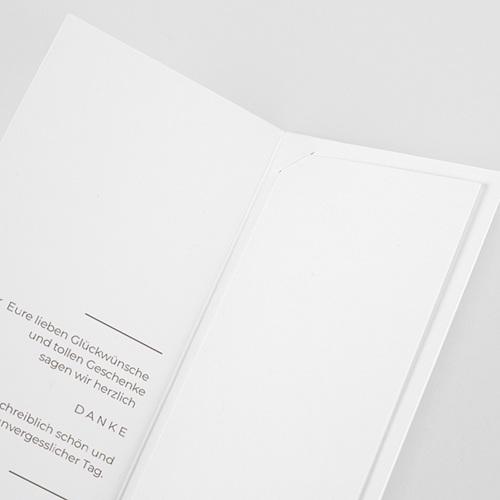 Elegante Dankeskarten Hochzeit Yebra pas cher