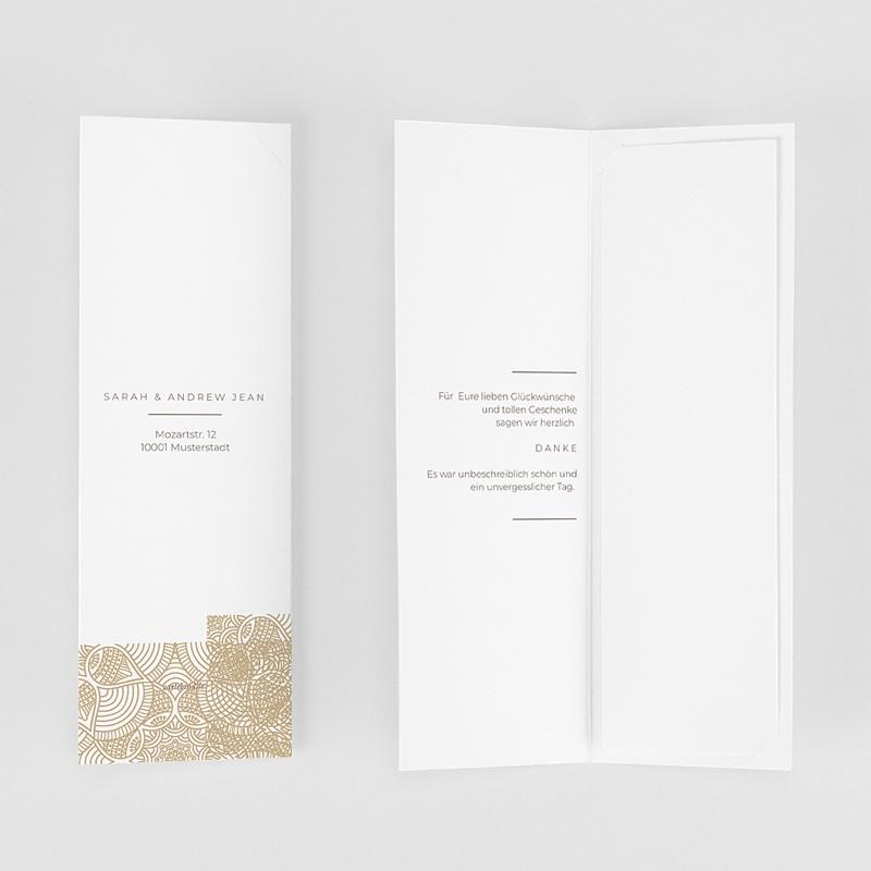 Elegante Dankeskarten Hochzeit Yebra gratuit
