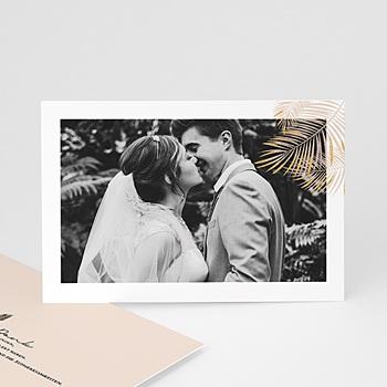 Dankeskarten Hochzeit mit Foto - Palmenblatt Gold - 0