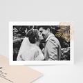 Dankeskarten Hochzeit mit Foto Palmenblatt Gold