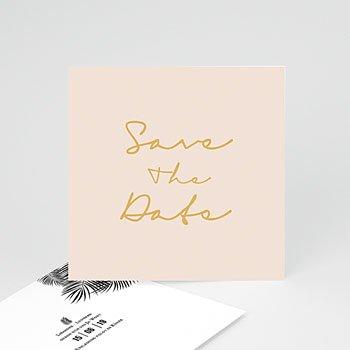 Save The Date  - Palmenblatt Gold - 0
