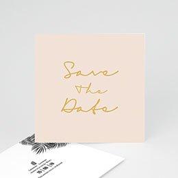 Save the date Hochzeit Palmenblatt Gold