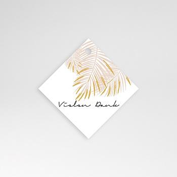 Anhänger Hochzeit - Palmenblatt Gold - 0