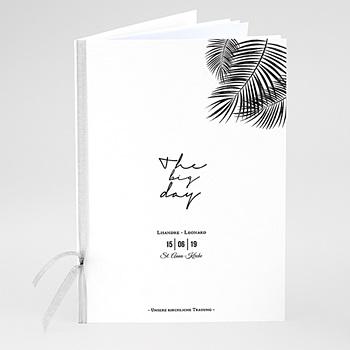 Kirchenheft zur Hochzeit individuell gestalten - Palmenblatt Gold - 0