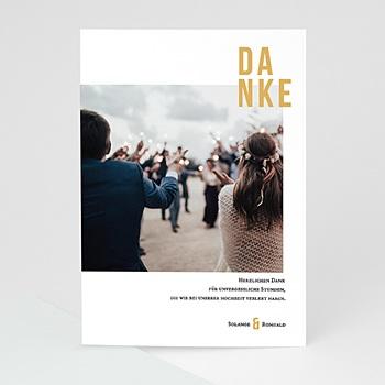 Dankeskarten Hochzeit mit Foto - Photo & Typo - 0
