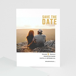 Save the date Hochzeit Photo & Typo