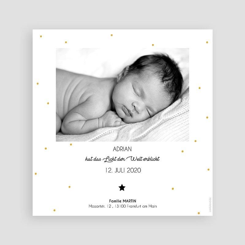 Geburtskarten für Jungen Initiale Safrangelb  pas cher