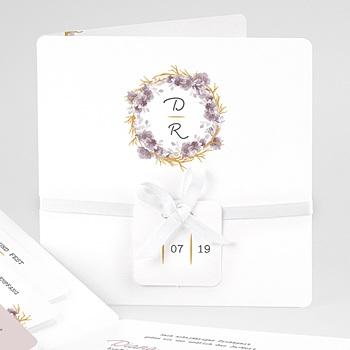 Einladungskarten Hochzeit  - Vintage Chic Rose - 0