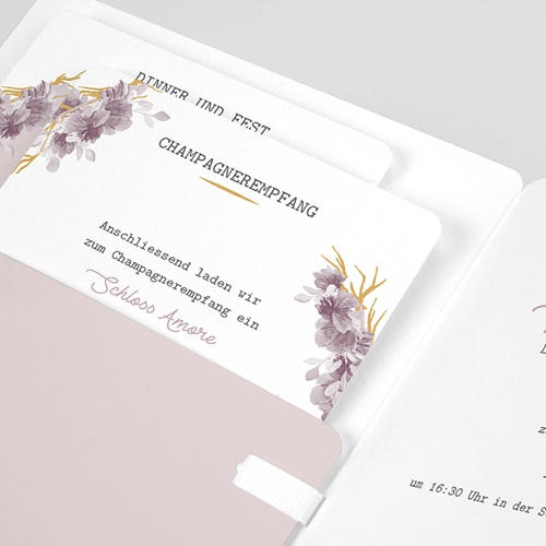 Hochzeitseinladungen Vintage Chic Rose pas cher