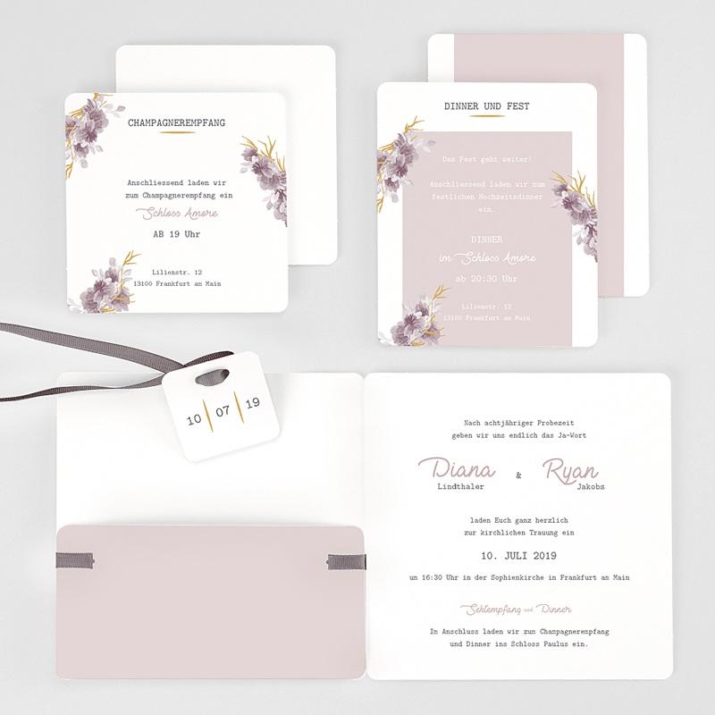 Hochzeitseinladungen Vintage Chic Rose gratuit
