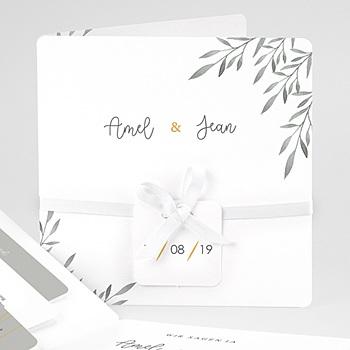 Einladungskarten Landhochzeit - Olivenzweige Aquarell - 0