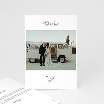 Stilvolle Danksagung Hochzeit - Olivenzweige Aquarell - 0