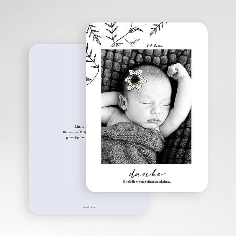 Dankeskarten Geburt Mädchen Anemone gratuit