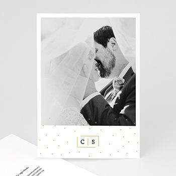 Dankeskarten Hochzeit mit Foto - Goldzauber - 0