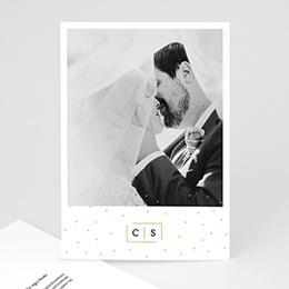 Dankeskarten Hochzeit mit Foto Goldzauber