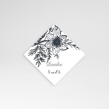 Anhänger Hochzeit - Skizze Floral - 0