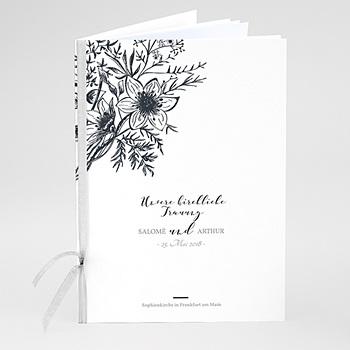 Kirchenheft zur Hochzeit individuell gestalten - Skizze Floral - 0