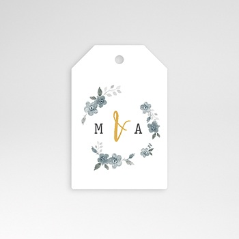 Anhänger Hochzeit - Botanisches Blau - 0
