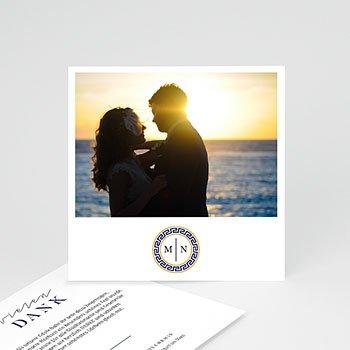 Dankeskarte Hochzeit Reisen - Griechisches Blau - 0