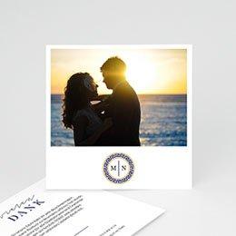 Danksagungskarten Hochzeit Griechisches Blau