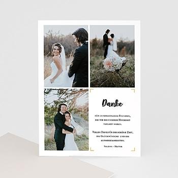 Dankeskarten Hochzeit mit Foto - Typo Abenteuer - 0