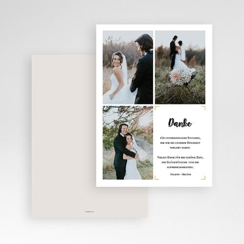 Dankeskarten Hochzeit mit Foto - Typo Abenteuer 61656 thumb