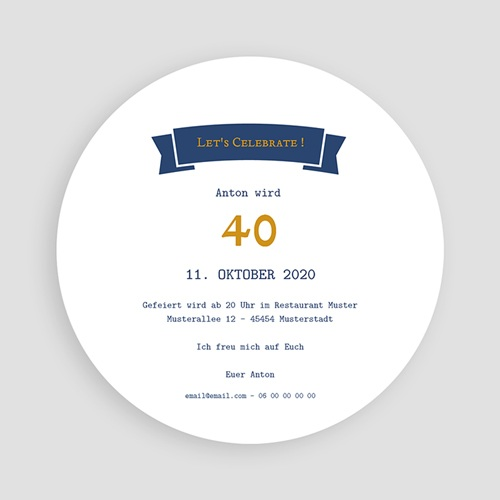 40 Jahre Alt Einladungskarten Geburtstag Bieretikett pas cher