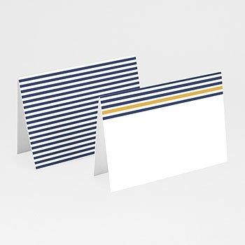 Tischkarten Hochzeit - Streifen - 0