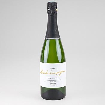 Flaschenetiketten Hochzeit - Streifen - 0