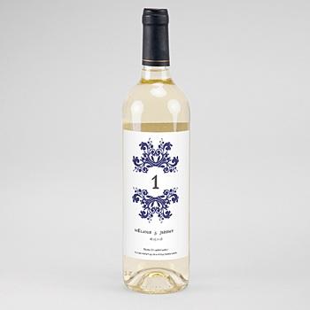 Flaschenetiketten Hochzeit - Ottomane Blau - 0