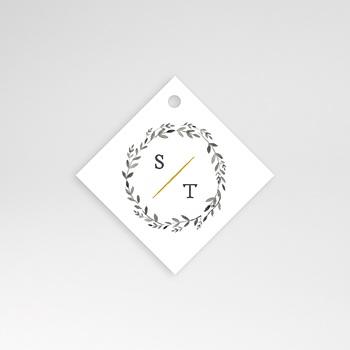 Anhänger Hochzeit - Aquarell Natur - 0