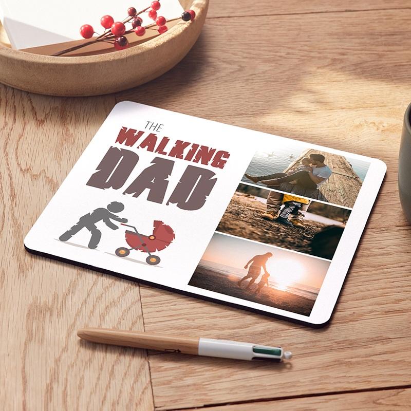 Personalisierte Foto-Mousepad The Walking Geek