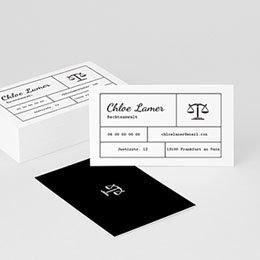 Visitenkarten Professionnel Rechtsanwalt & Co.