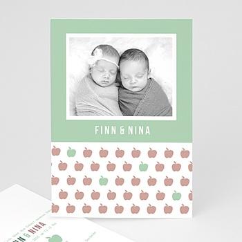 Babykarten für Zwillinge gestalten - Little Apple - 0