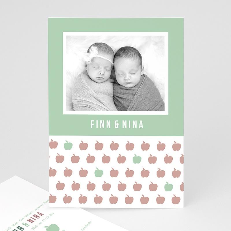 Geburtskarten für Zwillinge Little Apple