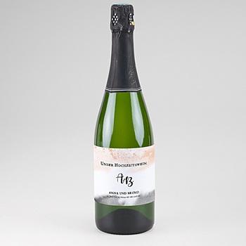 Flaschenetiketten Sekt - Aquarell trifft Gold - 0