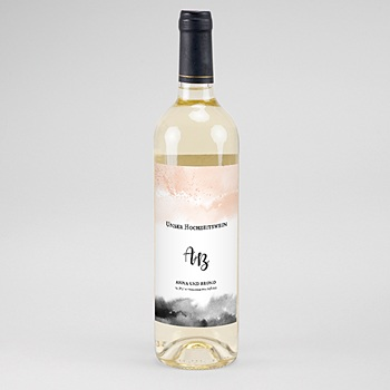 Flaschenetiketten Hochzeit - Aquarell trifft Gold - 0