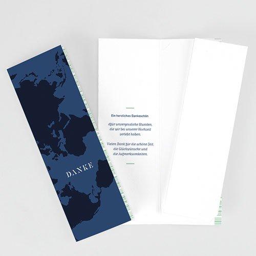 Dankeskarte Hochzeit Reisen - Boarding Pass 62029 thumb