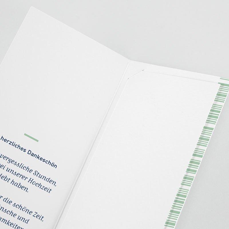 Dankeskarte Hochzeit Reisen - Boarding Pass 62030 thumb