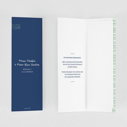 Dankeskarte Hochzeit Reisen - Boarding Pass 62031 thumb
