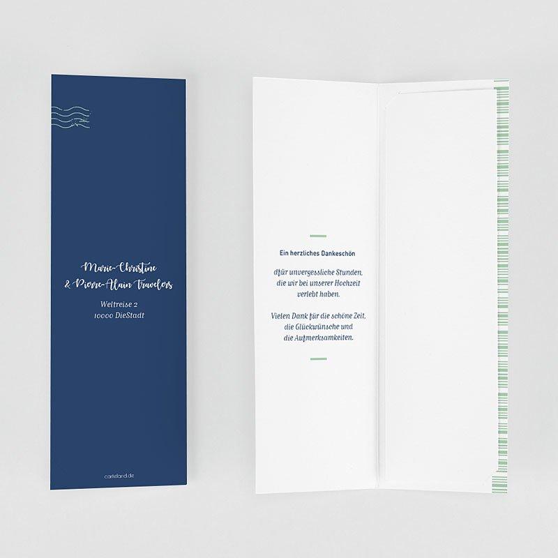 Dankeskarte Hochzeit Reisen Boarding Pass gratuit