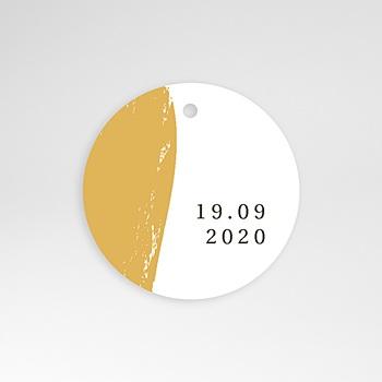 Anhänger Hochzeit - Brush Gold - 0